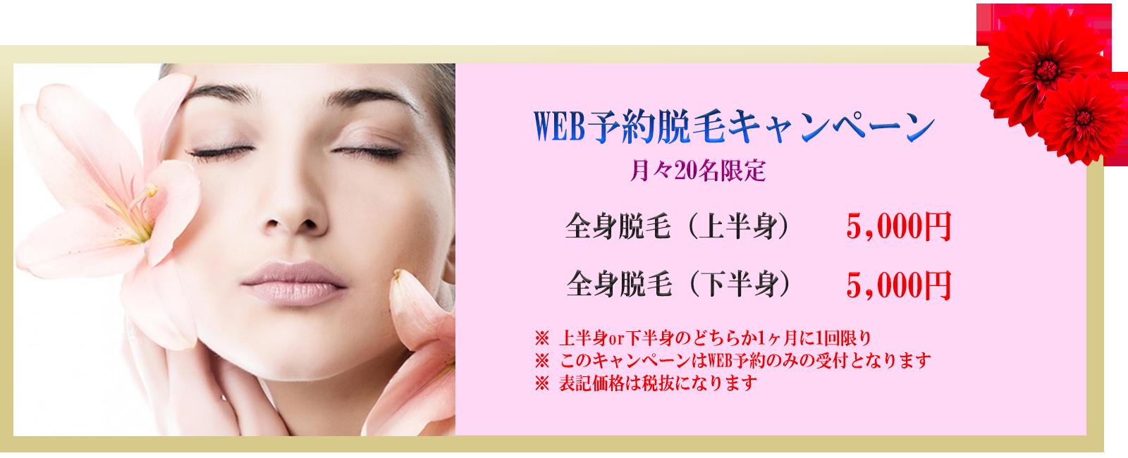 WEB予約脱毛キャンペーン